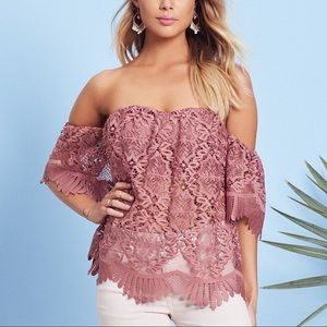 NWT Lovers + Friends Life's A Beach Top in Mauve